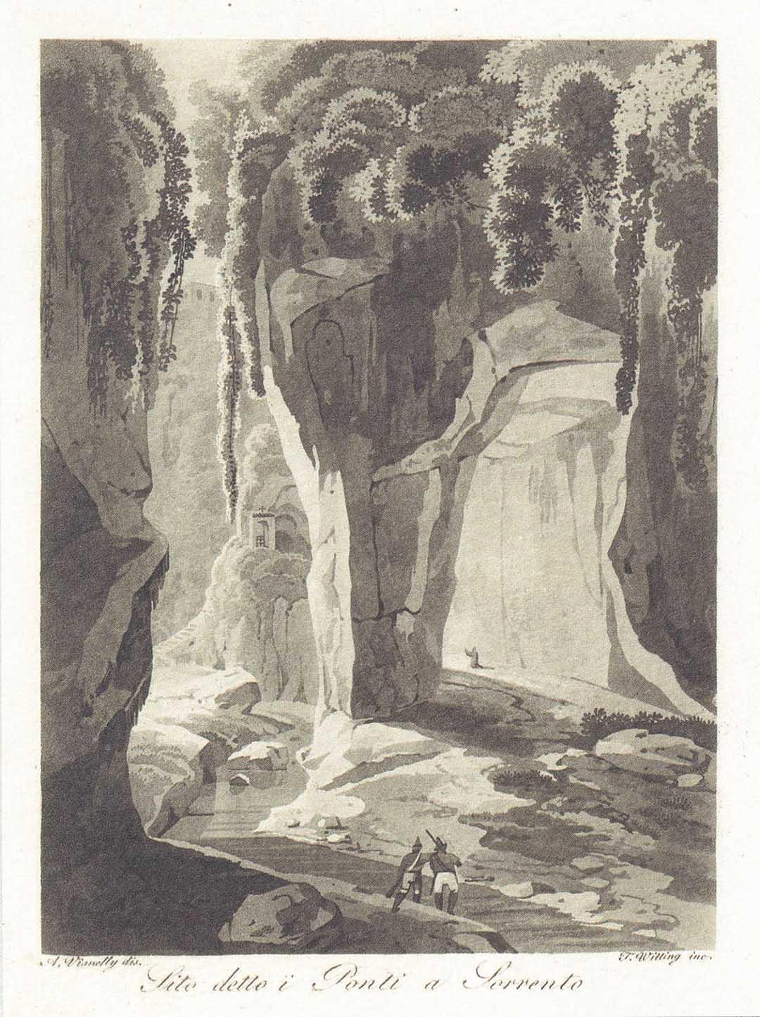 Achille VIANELLI e Teodoro WITTING, Sito detto i Ponti a Sorrento, 1820 circa
