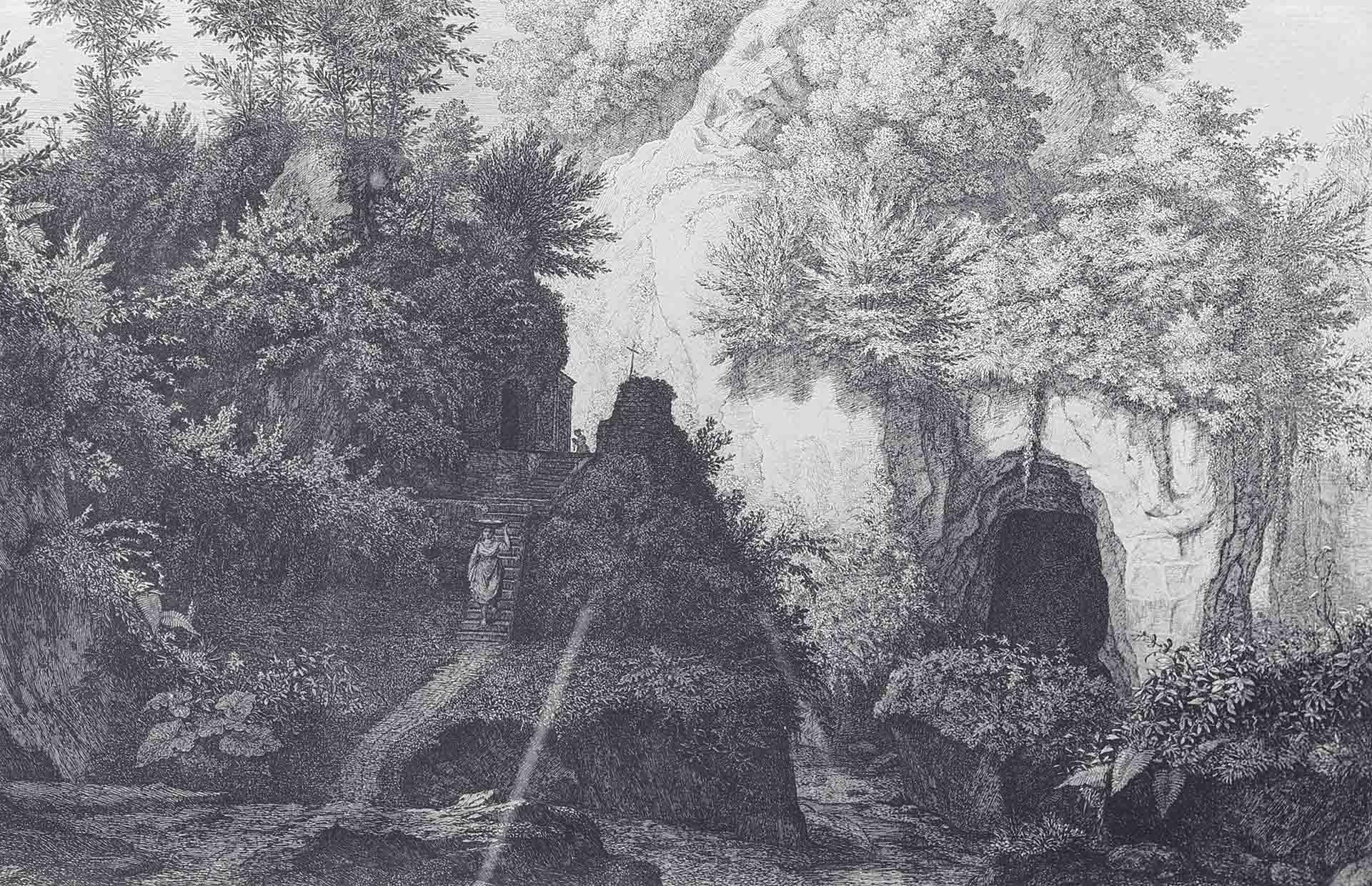 Florian GROSPIETSCH (Zwrócona 1789-1830), La Madonna del Mulino presso Sorrento, Roma, 1823