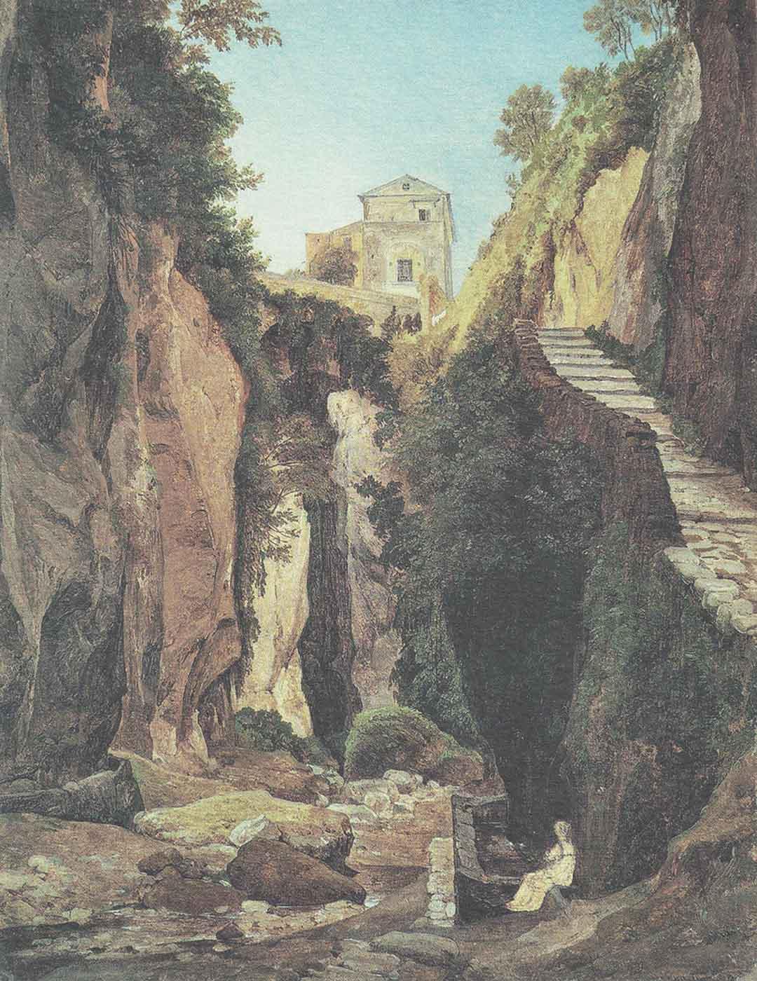 Heinrich REINHOLD (Gera 1788 – Roma 1825), Il vallone di Sorrento, 1823