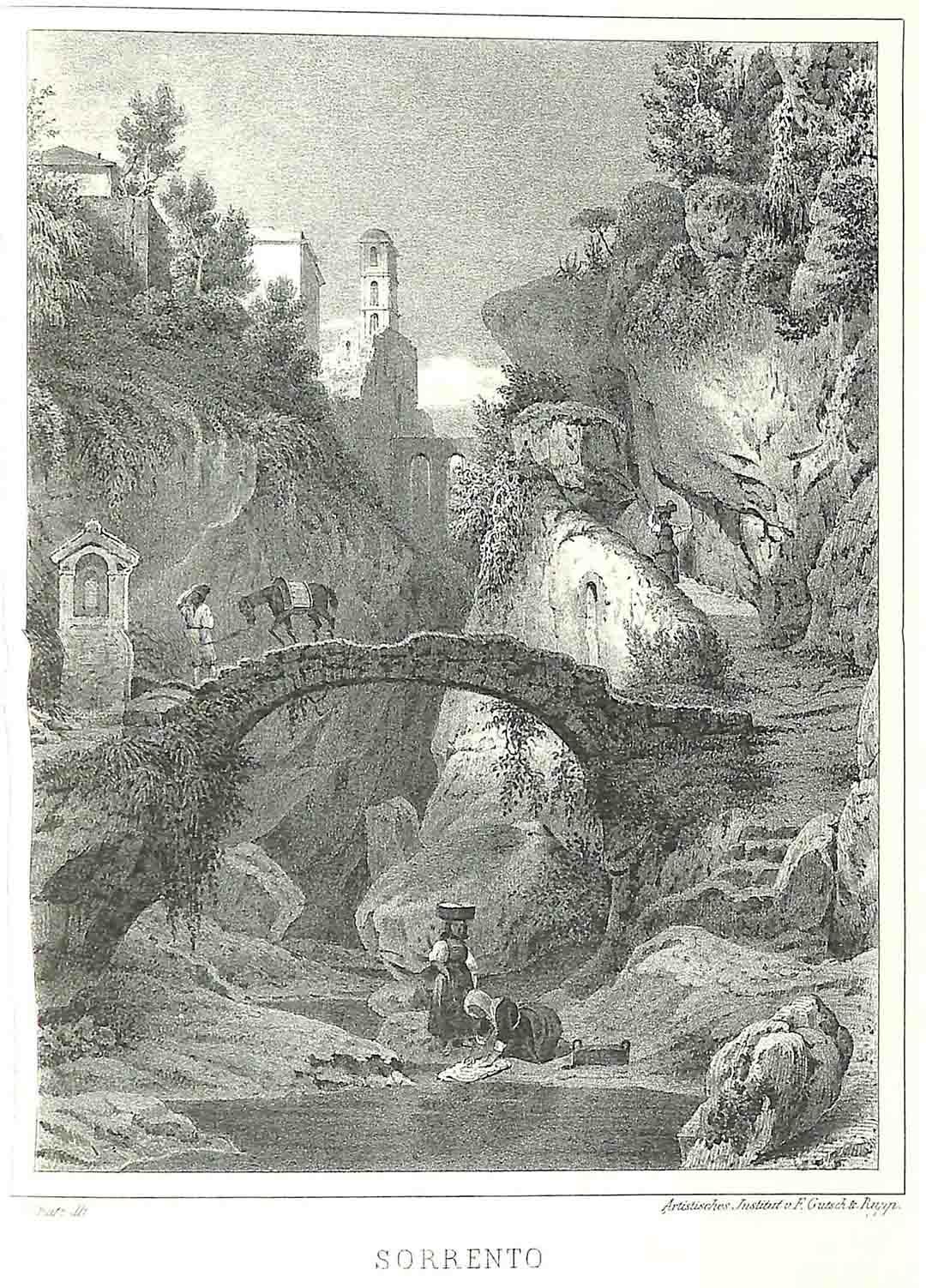 J. SCHULZ, Sorrento, 1850 circa