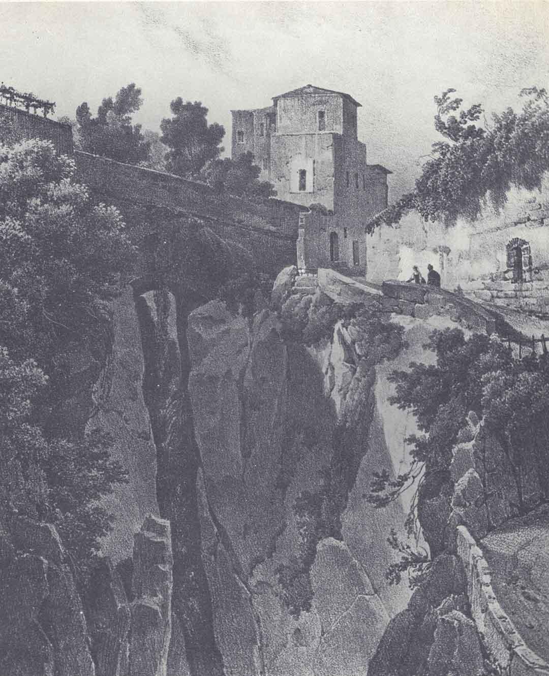 Jean Charles Joseph REMOND - François Séraphin DELPECH, Vue prise dans le ravin de Sorento (Près Naples), 1827
