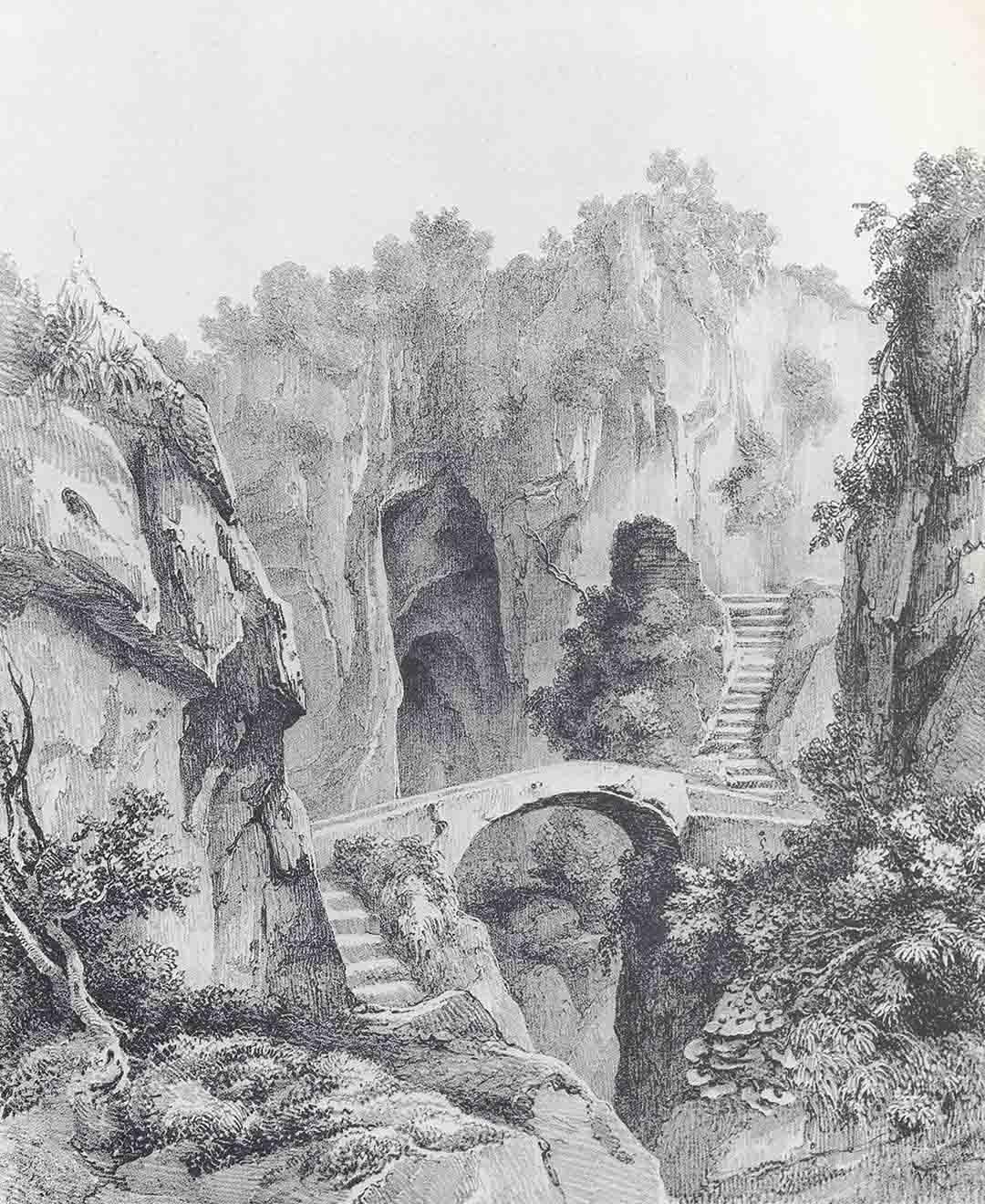 Jules Louis Philippe COIGNET(Paris 1898 – Paris 1860) - GIHAUT, Ravin de Sorente, 1832