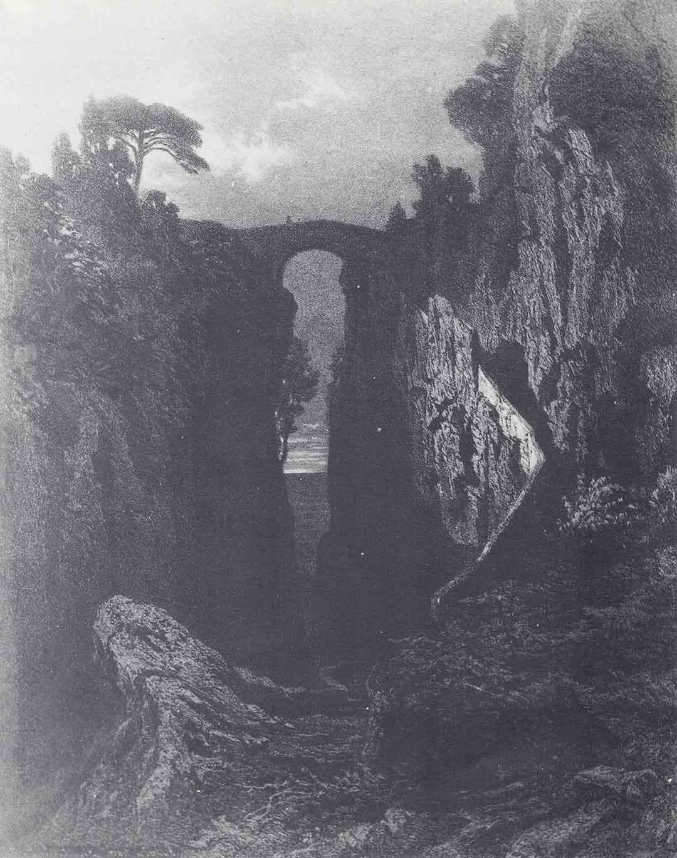 Karl August LINDEMANN-FROMMEL, Aus den Schluchten Sorrent, in Skizzen und Bilden aus Neapel und der Umgegend, Goupil, n. 17, 1848