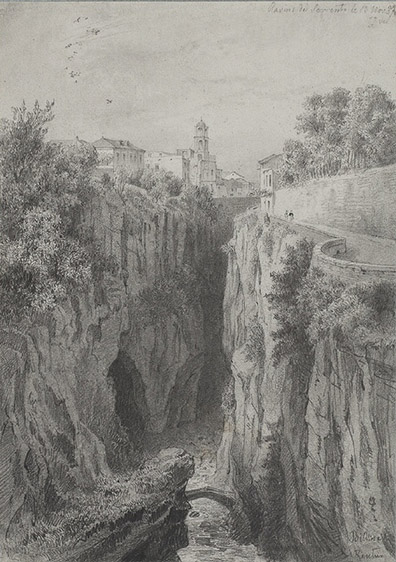 Karl Johan BILLMARK (Stoccolma 1804 – Parigi 1870), Ravins de Sorrento, 1837