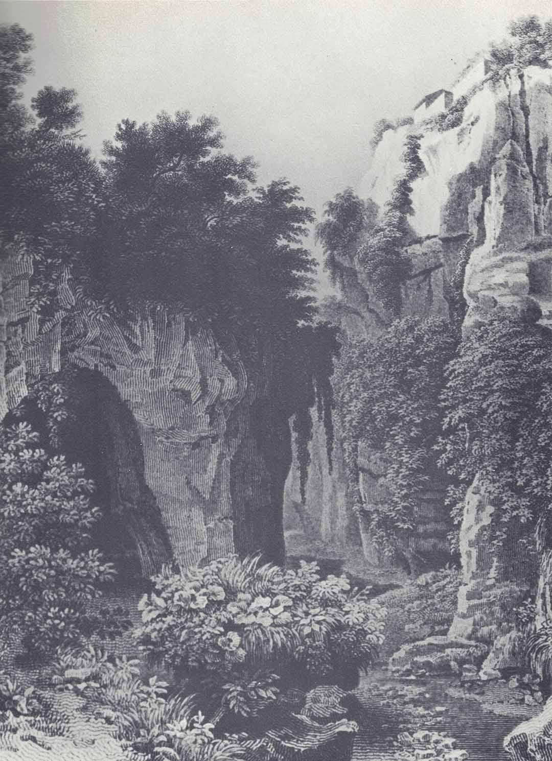Lancelot-Théodore TURPIN DE CRISSÉ (Parigi 1782-Parigi 1859)- Pierre Eugène AUBERT (Parigi 1789 – Parigi 1847), Ravin de Sorrento
