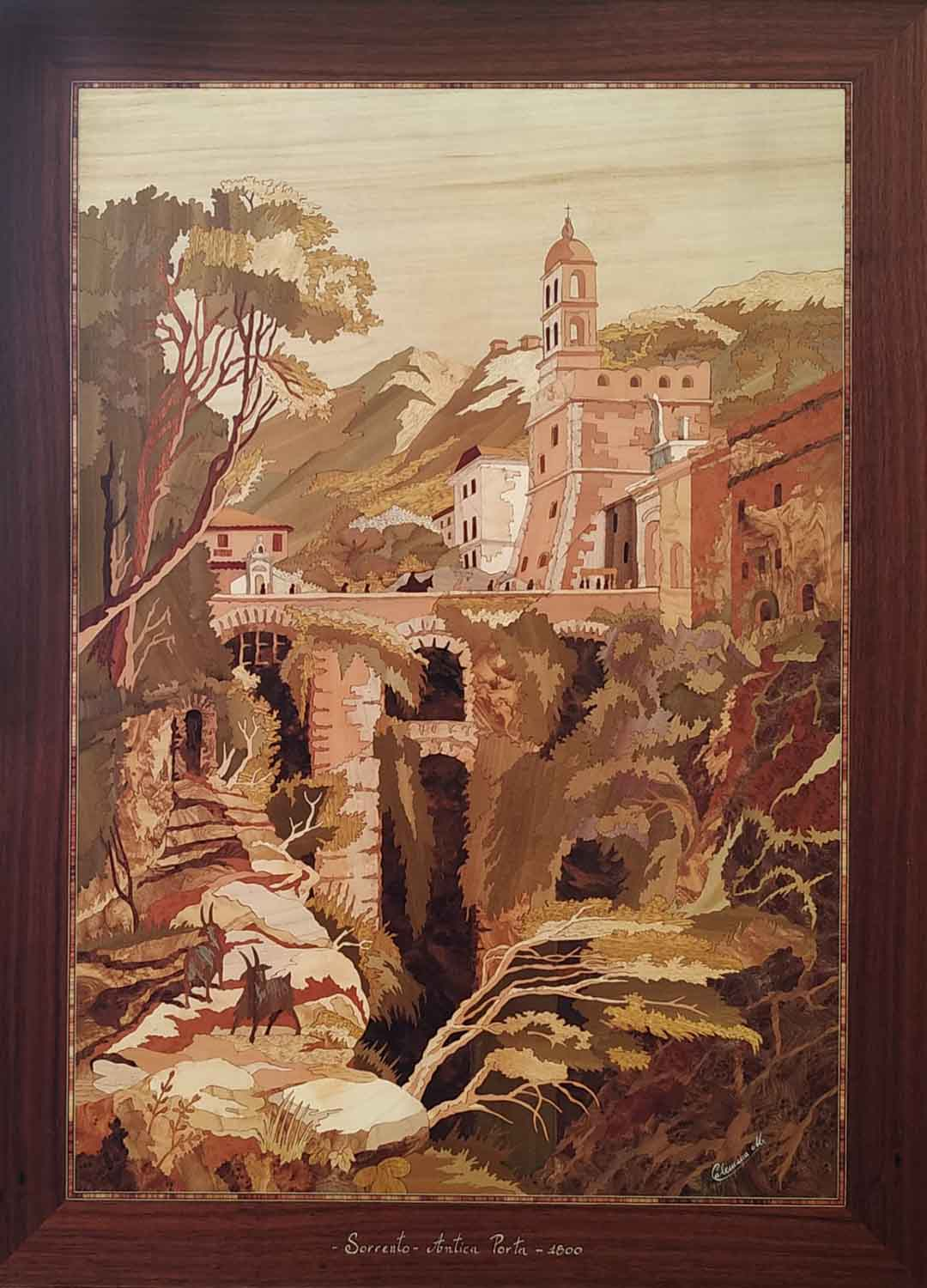Michele CALEMMA (Massa Lubrense 1949), Sorrento's ancient gate 1800, 2012