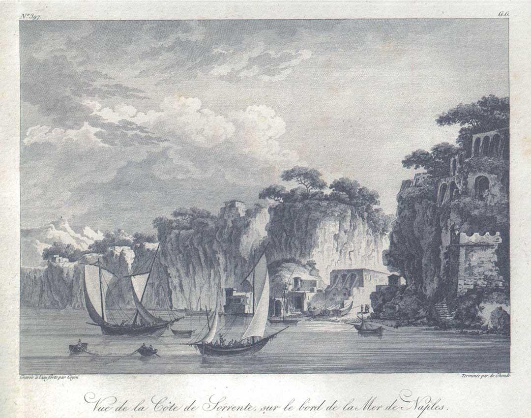 Vue de la Côte de Sorrente, sur le bord de la Mer de Naples