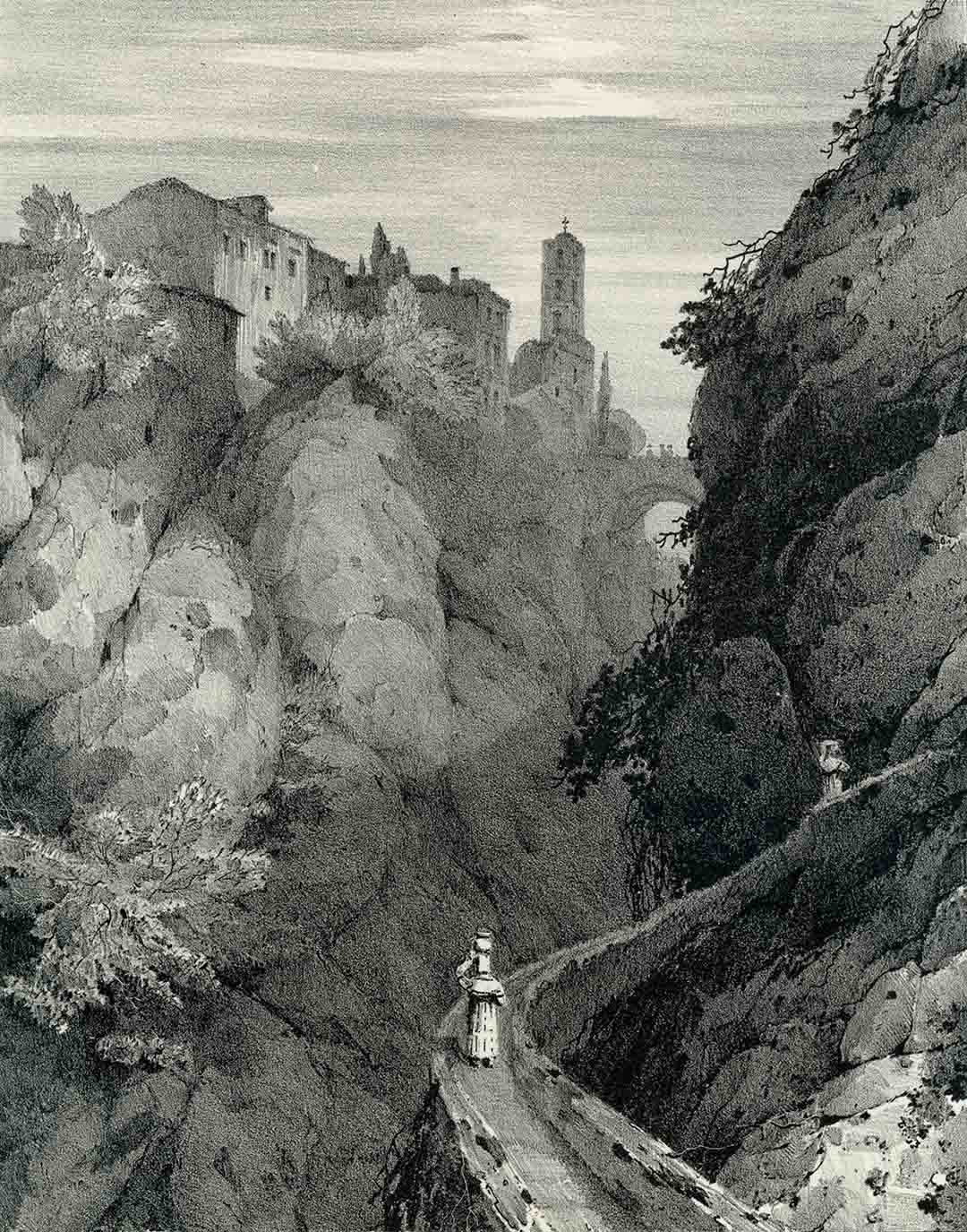 William LINTON (1791-1876) - William DAY (1797 - Londra 1845), Ravine at Sorrento