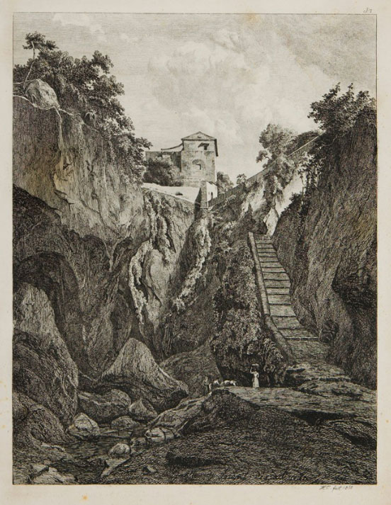 Johann Hermann CARMIENCKE, Grotto near Sorrento, tra 1845-1846